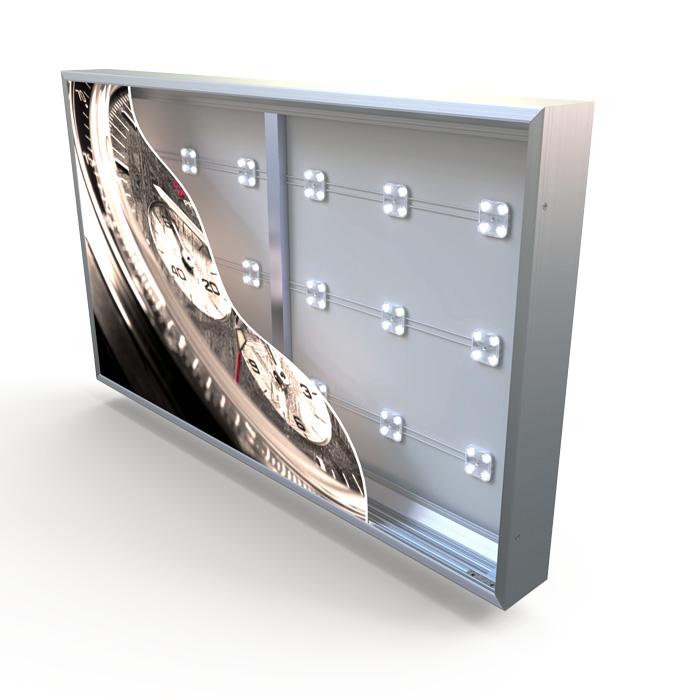 """ארגז תאורה לשילוט מואר מאלומיניום עם חזית פרספקס בעומק 95 מ""""מ"""